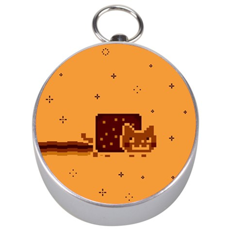 Nyan Cat Vintage Silver Compasses