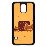 Nyan Cat Vintage Samsung Galaxy S5 Case (Black) Front