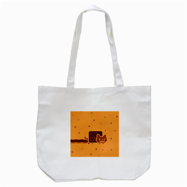 Nyan Cat Vintage Tote Bag (White)