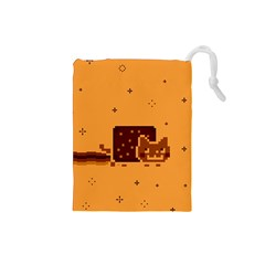Nyan Cat Vintage Drawstring Pouches (Small)