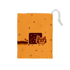 Nyan Cat Vintage Drawstring Pouches (medium)