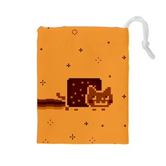 Nyan Cat Vintage Drawstring Pouches (Large)