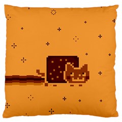 Nyan Cat Vintage Large Flano Cushion Case (One Side)