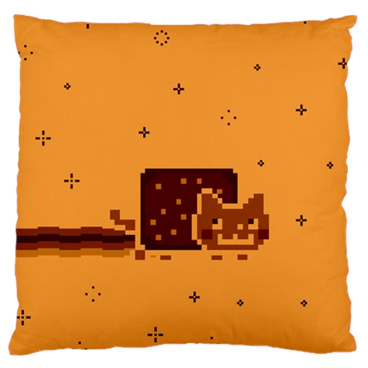 Nyan Cat Vintage Large Flano Cushion Case (Two Sides)