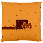 Nyan Cat Vintage Large Flano Cushion Case (Two Sides) Back