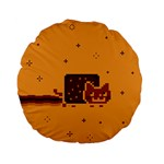 Nyan Cat Vintage Standard 15  Premium Flano Round Cushions Back