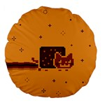 Nyan Cat Vintage Large 18  Premium Flano Round Cushions Front