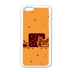 Nyan Cat Vintage Apple iPhone 6/6S White Enamel Case