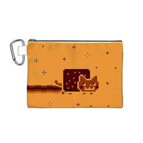 Nyan Cat Vintage Canvas Cosmetic Bag (M)