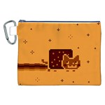Nyan Cat Vintage Canvas Cosmetic Bag (XXL) Front