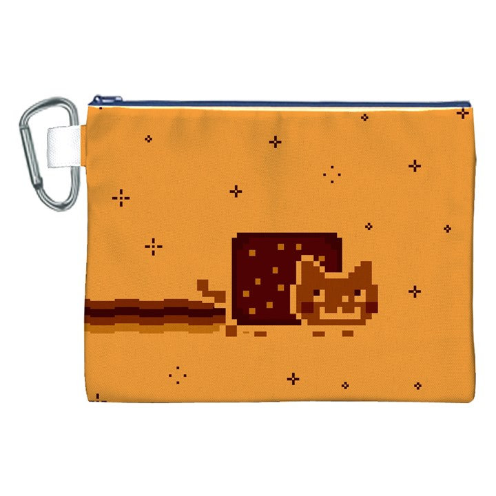 Nyan Cat Vintage Canvas Cosmetic Bag (XXL)