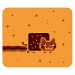 Nyan Cat Vintage Double Sided Flano Blanket (Small)  50 x40 Blanket Back