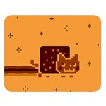 Nyan Cat Vintage Double Sided Flano Blanket (Large)   Blanket Back