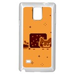 Nyan Cat Vintage Samsung Galaxy Note 4 Case (White) Front
