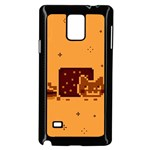 Nyan Cat Vintage Samsung Galaxy Note 4 Case (Black) Front