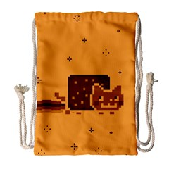 Nyan Cat Vintage Drawstring Bag (Large)