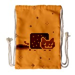 Nyan Cat Vintage Drawstring Bag (Large) Front
