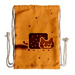 Nyan Cat Vintage Drawstring Bag (Large) Back