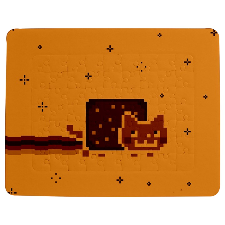 Nyan Cat Vintage Jigsaw Puzzle Photo Stand (Rectangular)