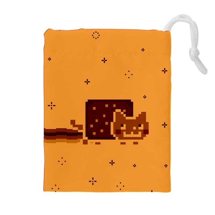 Nyan Cat Vintage Drawstring Pouches (Extra Large)