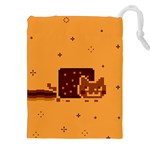 Nyan Cat Vintage Drawstring Pouches (XXL) Front