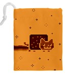 Nyan Cat Vintage Drawstring Pouches (XXL) Back