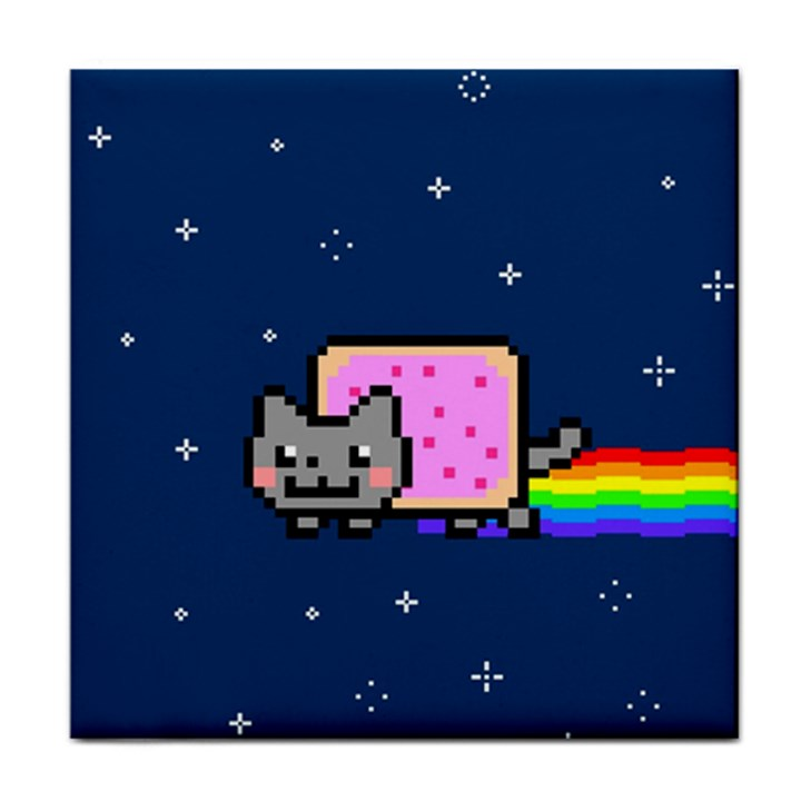 Nyan Cat Tile Coasters