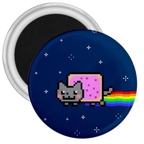 Nyan Cat 3  Magnets