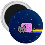 Nyan Cat 3  Magnets Front