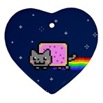 Nyan Cat Ornament (Heart)  Front