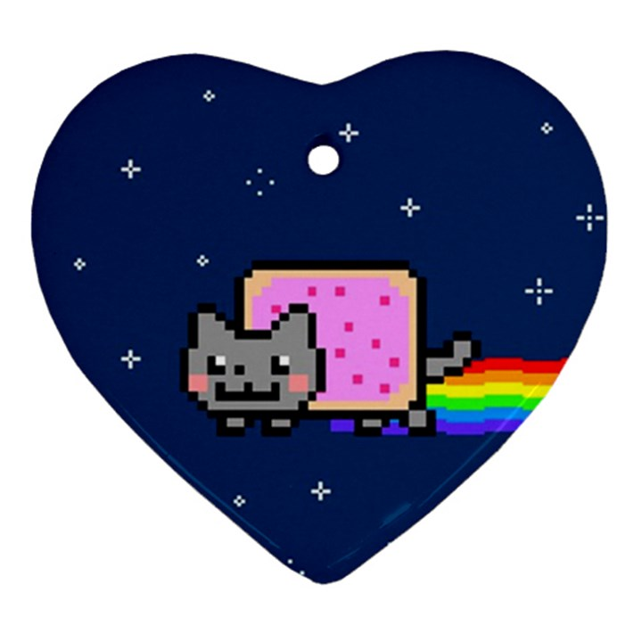 Nyan Cat Ornament (Heart)