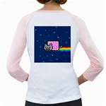 Nyan Cat Girly Raglans Back