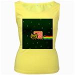 Nyan Cat Women s Yellow Tank Top Front