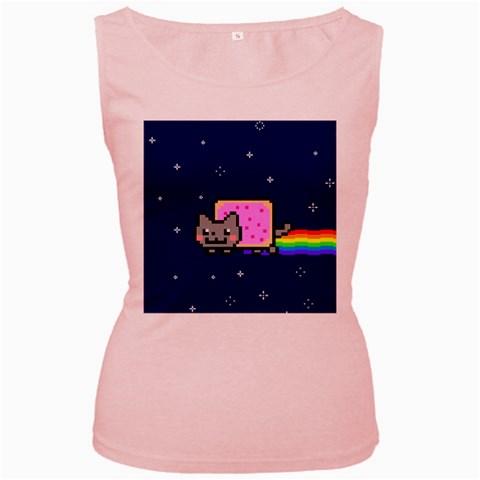 Nyan Cat Women s Pink Tank Top