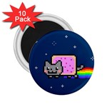 Nyan Cat 2.25  Magnets (10 pack)  Front