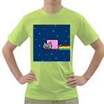 Nyan Cat Green T-Shirt Front