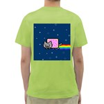 Nyan Cat Green T-Shirt Back