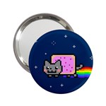 Nyan Cat 2.25  Handbag Mirrors Front