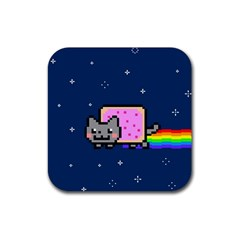 Nyan Cat Rubber Square Coaster (4 pack)
