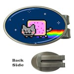 Nyan Cat Money Clips (Oval)  Front