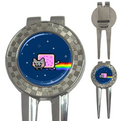 Nyan Cat 3-in-1 Golf Divots