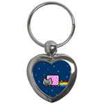 Nyan Cat Key Chains (Heart)  Front