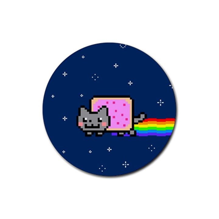 Nyan Cat Rubber Coaster (Round)