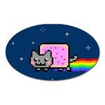 Nyan Cat Oval Magnet Front