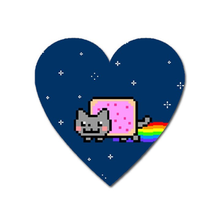 Nyan Cat Heart Magnet