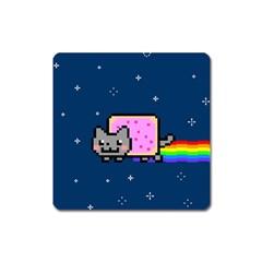 Nyan Cat Square Magnet