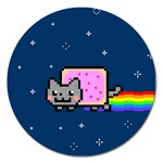 Nyan Cat Magnet 5  (Round) Front