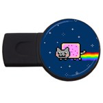 Nyan Cat USB Flash Drive Round (1 GB)  Front