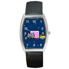 Nyan Cat Barrel Style Metal Watch