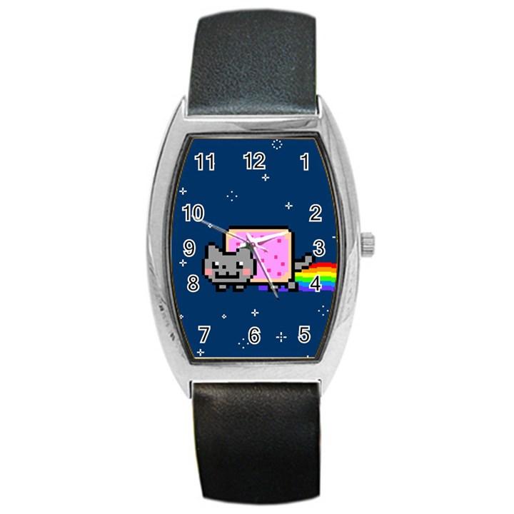 Nyan Cat Barrel Style Metal Watch